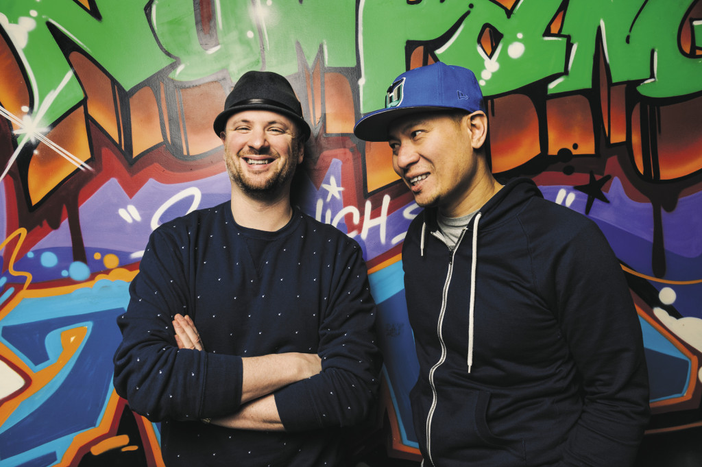 Loud and proud: Ben Daitz and Ratha Chaupoly shared backgrounds in formal food: Blue Water Grill, Daniel, Tabla and Danube. But they marked their sandwich-shop territory with blaring hip-hop and graffiti murals.