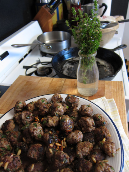 lamb meatballs with summer savory