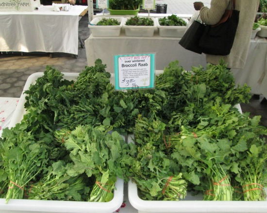Overwintered, Underappreciated: Broccoli Rabe at the Greenmarket
