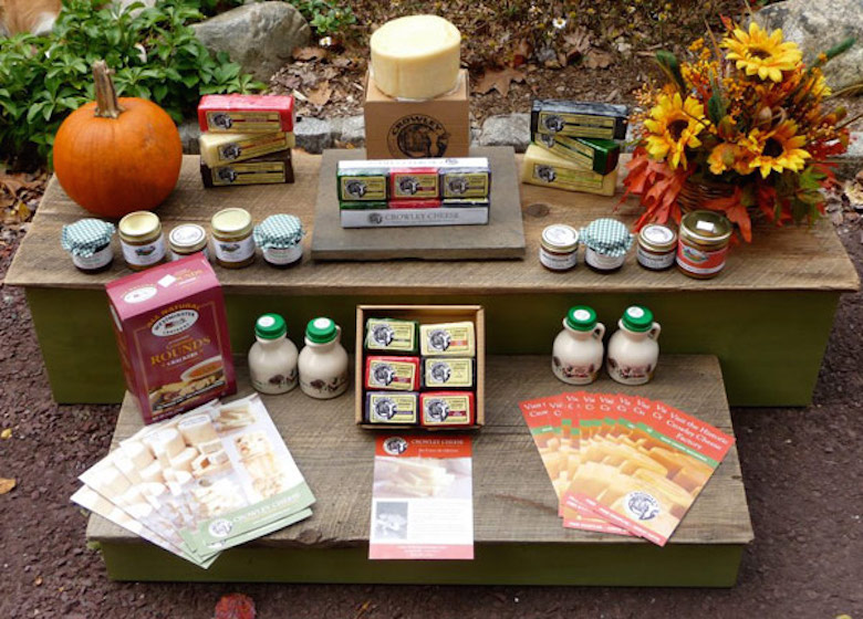 Crowley Cheese products at Gossetts' Farmers Market. Photo credit/Crowley Cheese.
