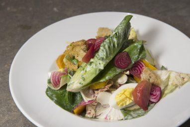 Untitled_CampoRosso_Little gem lettuce, castelfranco, roasted beets, watermelon radish_(Liz Clayman)