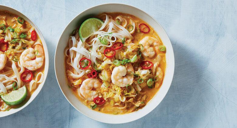 healthyish coconut curry shrimp recipe