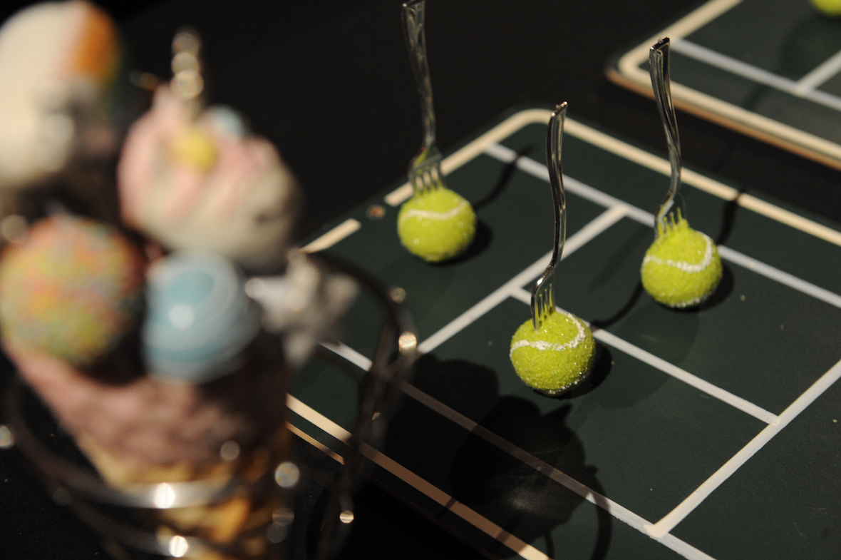 Taste of Tennis Rebecca cake Pops